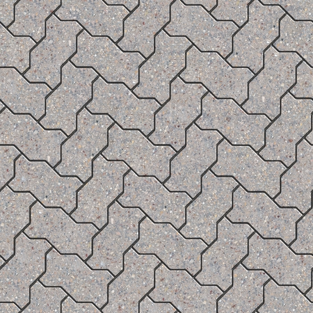 pave: Gray Wavy Paving Slabs. Parquet Laying. Seamless Tileable Texture. Stock Photo
