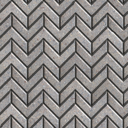 pave: Gray Pavement as Arrows in Different Direction. Seamless Tileable Texture. Stock Photo