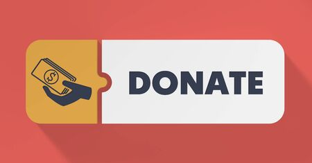 Donate Concept in Flat Design with Long Shadows. photo