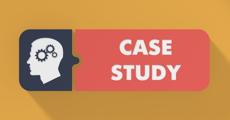 case: Case Study Concept in Flat Design with Long Shadows.