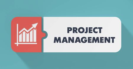 Project Management Concept in Flat Design with Long Shadows. photo