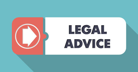 Legal Advice on Blue in Flat Design with Long Shadows. photo
