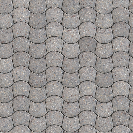 trapezoid: Gray Pavement - curved trapezoid. Seamless Tileable Texture. Stock Photo