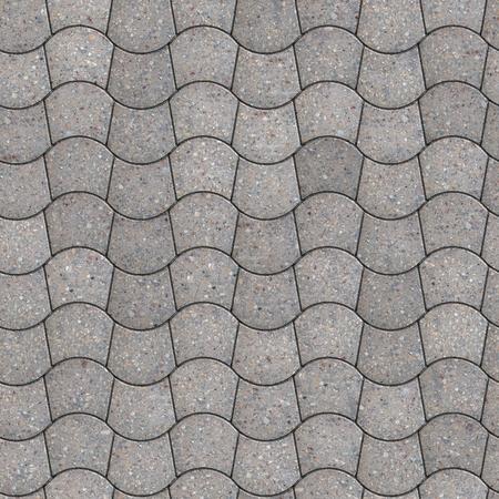trapezoid: Gray Pavement - trapezoidal curvo. Seamless Texture Tileable.
