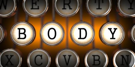 being the case: Body on Old Typewriters Keys on Orange Background.