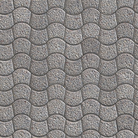 pave: Gray Granular Pavement - curved trapezoid. Seamless Tileable Texture.