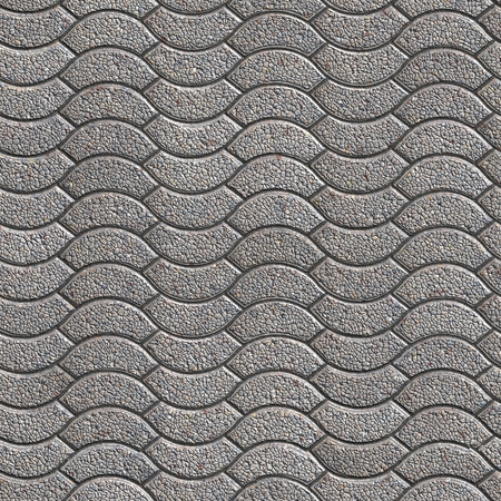 pave: Decorative Granular Gray Paving Slabs. Seamless Tileable Texture. Stock Photo