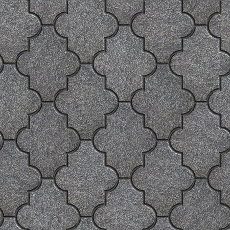 figured: Manufactured Gray Figured Pavement. Seamless Tileable Texture. Stock Photo