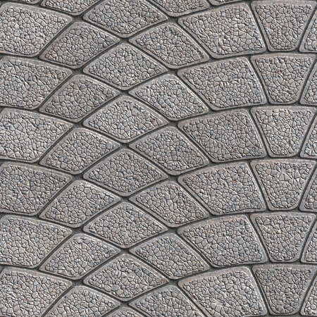 granular: Concrete Gray Granular Pavement Laid as Semicircle. Seamless Tileable Texture.