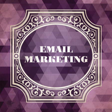 email marketing: E-mail Marketing Concept. Vintage design. Purple made of Triangles.