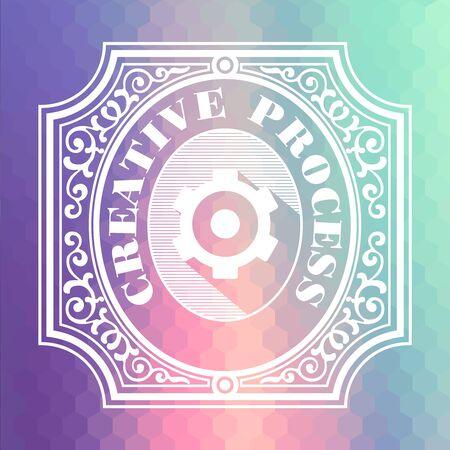 originative: Creative Proccess Concept  Vintage design  Pastels Color Flow Hexagonal Background  Stock Photo