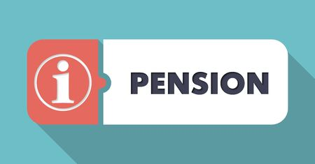 Pension Concept in Flat Design with Long Shadows  Stock Photo