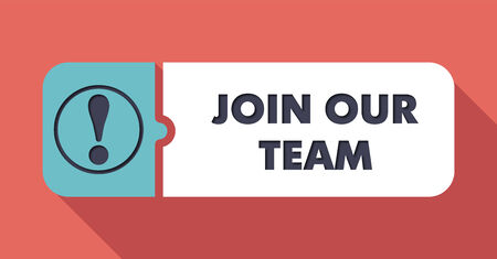 join our team: Join Our Team Concept in Flat Design with Long Shadows  Stock Photo