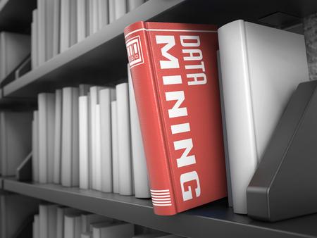 correlation: Data Mining - Prenota sul Bookshelf Nero tra quelli bianchi Concetto elettronico