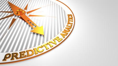 predictive: Predictive Analytics - Compasso d'Oro ago su uno sfondo bianco.