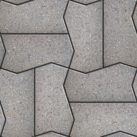 figured: Gray Figured Pavement Slabs. Seamless Tileable Texture.