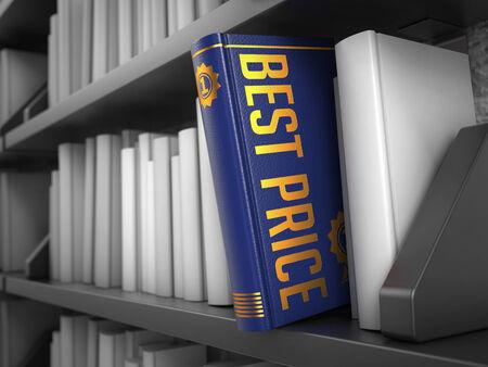 Best Price - Blue Book on the Black Bookshelf between white ones. photo