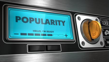 distributeur automatique: Popularit� - Inscription sur Affichage du distributeur automatique. Concept. Banque d'images