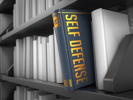 defensa personal: Defensa Personal - Gris libro en la estanter�a Negro entre los blancos.