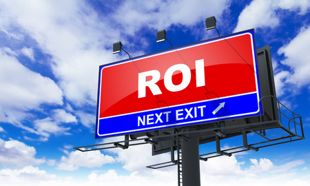 Roi - Red Billboard on Sky Background.