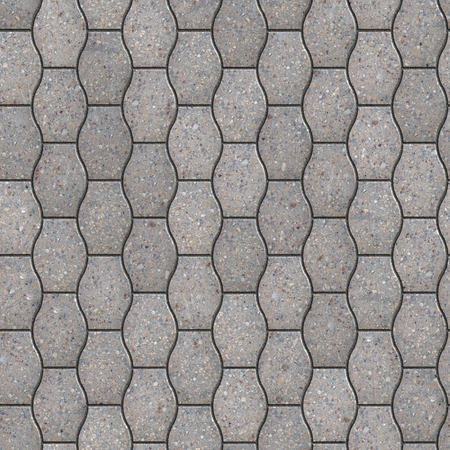 Decorative Gray Pavement Slabs. Seamless Tileable Texture. photo