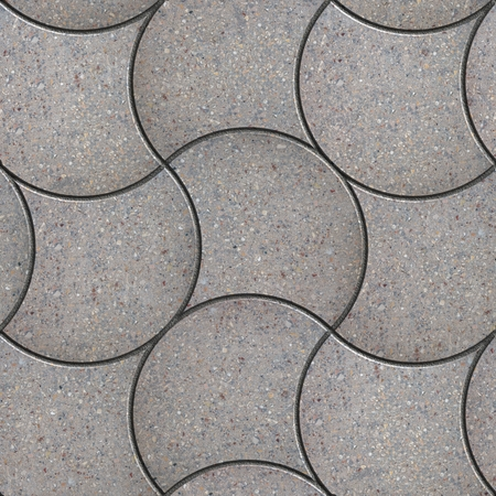 adoquines: Gris decorativos onduladas soleras. Textura incons�til de Tileable.