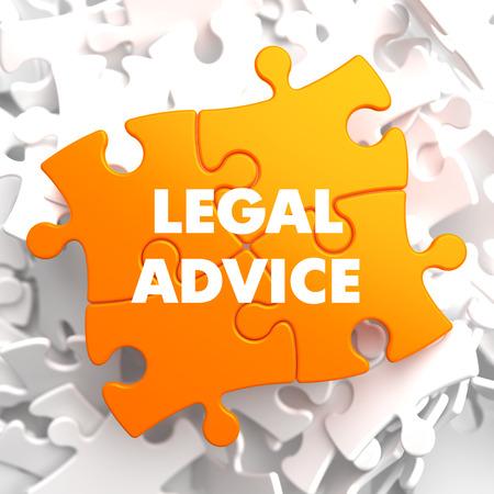 prosecutor: Legal Advice on Orange Puzzle on White Background. Stock Photo