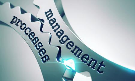 Management-Prozess auf dem Mechanismus der Metal Gears. Lizenzfreie Bilder