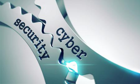금속 기어의 메커니즘에 사이버 보안. 스톡 콘텐츠
