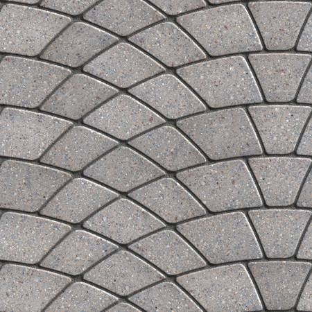 tileable: Gray Paving Slabs Laid as Semicircle. Seamless Tileable Texture.