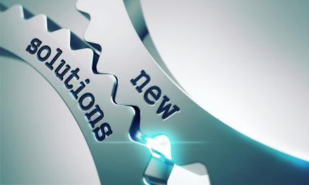 Neue Lösungen auf den Mechanismus der Metallzahnräder. Lizenzfreie Bilder