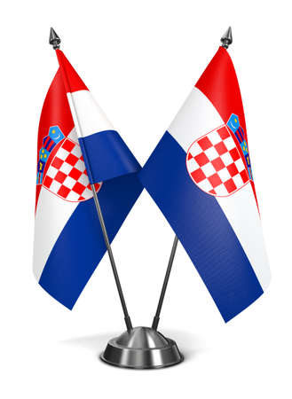 Croatia - Miniature Flags Isolated on White Background. photo