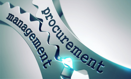 Procurement Management Concept on the Mechanism of Shiny Metal Gears. Stok Fotoğraf - 34793044
