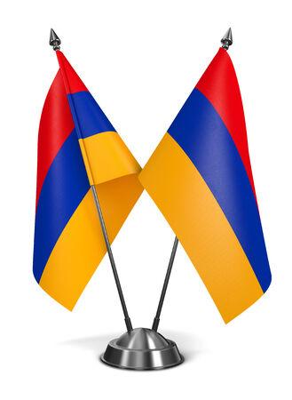 Armenia - Miniature Flags Isolated on White Background. photo
