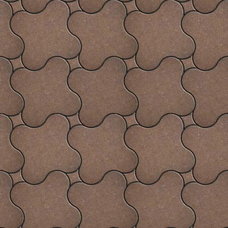 adoquines: Marr�n Ladrillo Soleras Cruz con esquinas redondeadas. Textura incons�til de Tileable. Foto de archivo