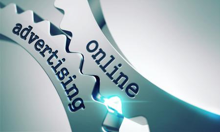 Online Advertising on the Mechanism of Metal Cogwheels.