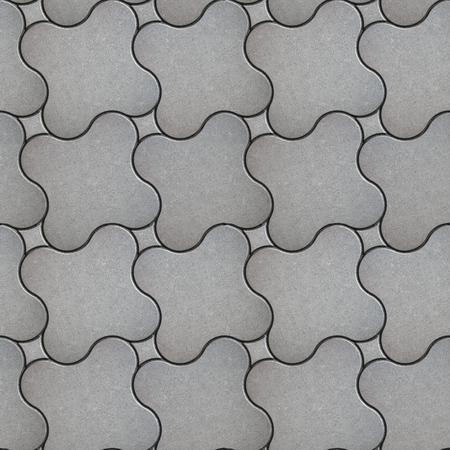 adoquines: Gris Ladrillo Soleras Cruz con esquinas redondeadas. Textura incons�til de Tileable.