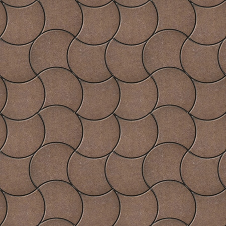 pavers: Brown Decorative Wavy Pavers. Seamless Tileable Texture.