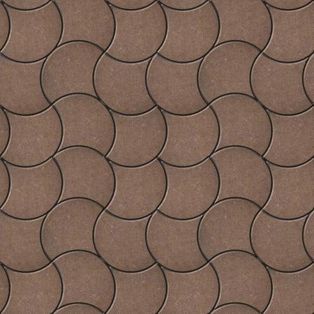 adoquines: Brown decorativos onduladas soleras. Textura incons�til de Tileable. Foto de archivo