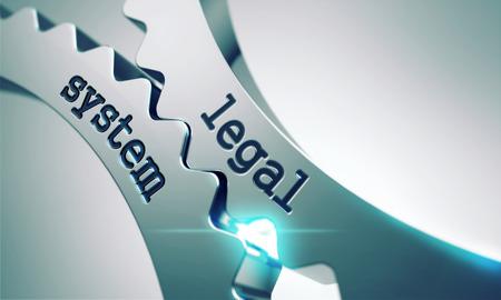 Legal System on the Mechanism of Metal Cogwheels. Standard-Bild