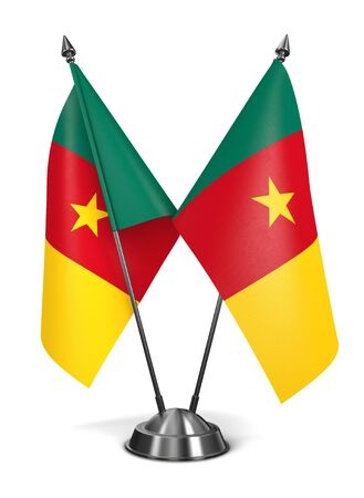 cameroonian: Cameroon - Miniature Flags Isolated on White Background.