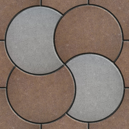 Brown and Gray Pavement  in the Form of a Circle. Seamless Tileable Texture. photo