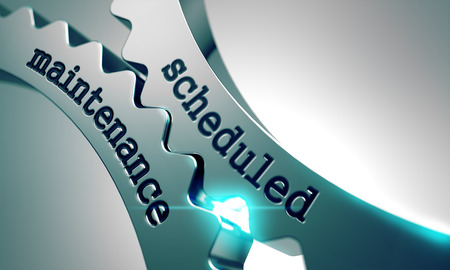 scheduled replacement: Scheduled Maintenance on the Mechanism of Metal Gears.