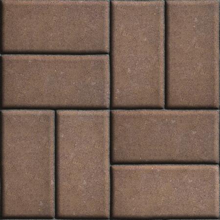 perpendicular: Brown con lastre di rettangoli estende su due pezzi perpendicolari tra loro. Senza giunte di Tileable.