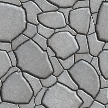 figured: Gray Figured Paving Slabs which Imitates Natural Stone. Seamless Tileable Texture.