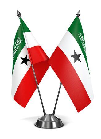 proclaimed: Somaliland - Miniature Flags Isolated on White Background. Stock Photo