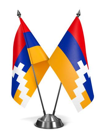Nagorno Karabakh - Miniature Flags Isolated on White Background. photo