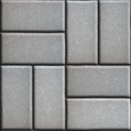 perpendicular: Gray Paving Slabs of Rectangles Laid Out on Two Pieces Perpendicular to Each Other