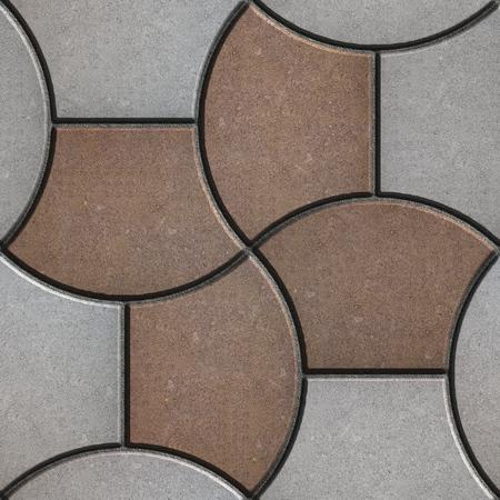 trapezoid: Pavimento patr�n en forma de un trapecio Foto de archivo