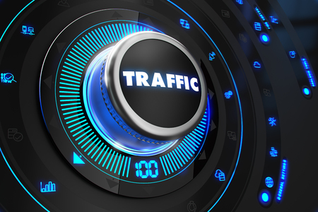 traffic controller: Traffic Controller on Black Control Console with Blue Backlight